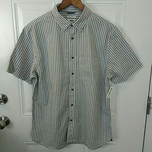 Old Navy slim fit striped button down shirt